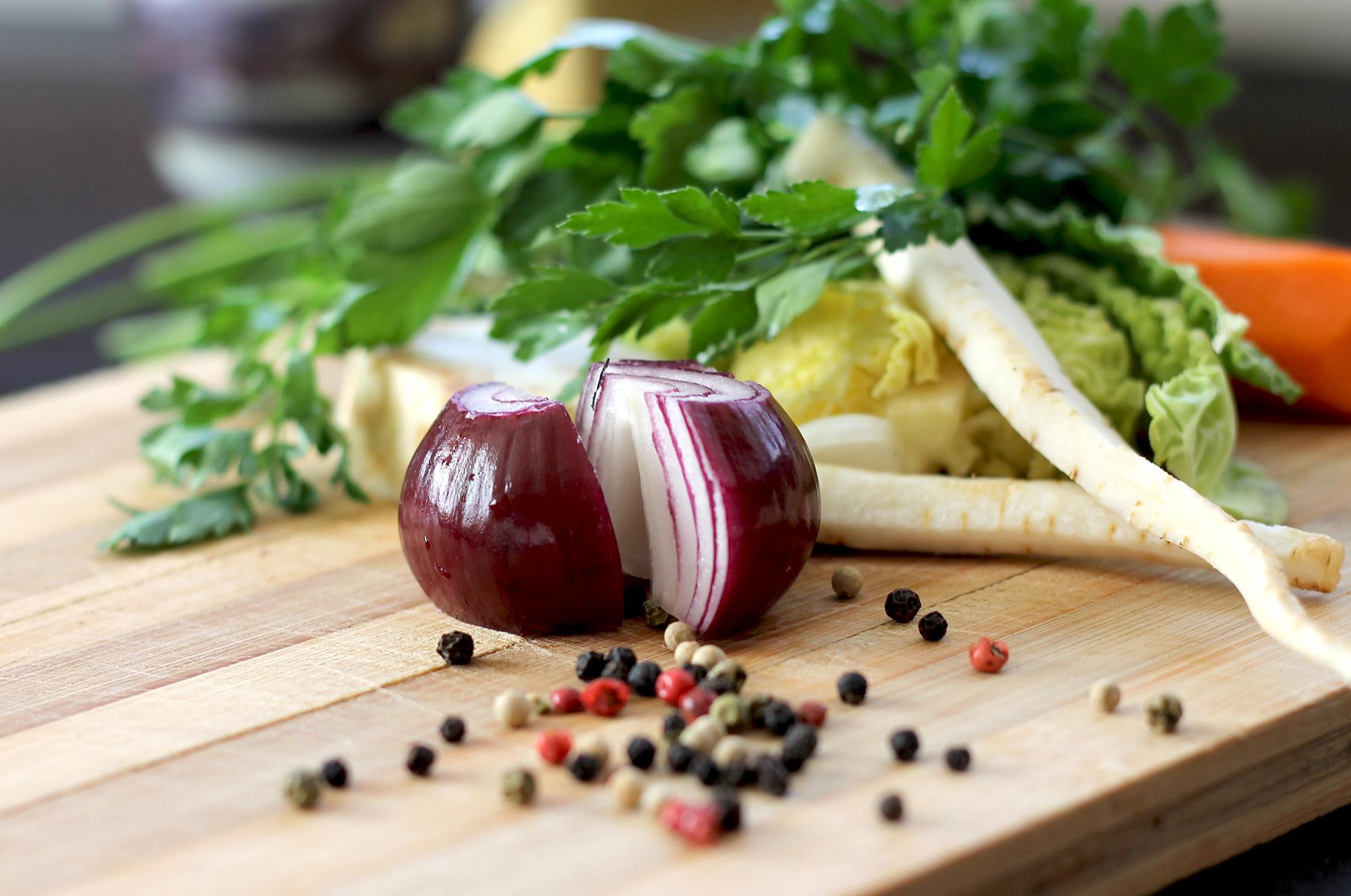 Bouillon de légumes maison