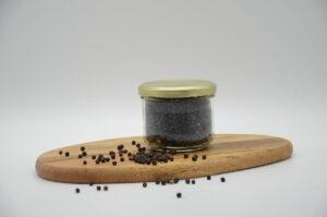 Bocal de poivre noir en grains bio