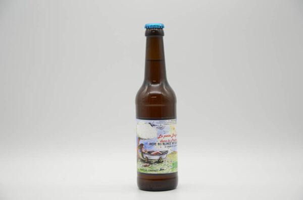 Bouteille de bière bio La petite baignoire dans la prairie 33cl